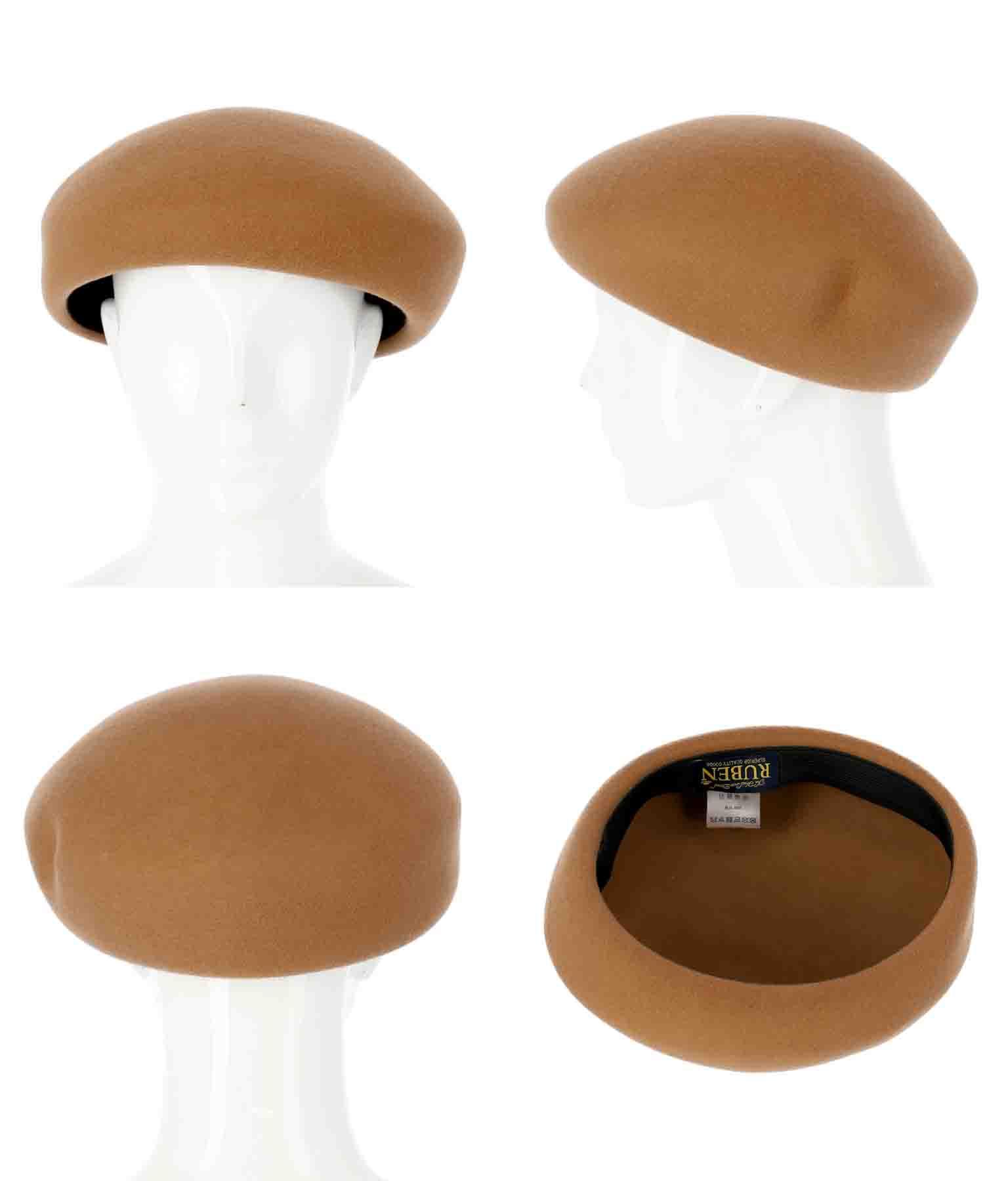 ウールアシンメトリーベレー帽(ファッション雑貨/ハット・キャップ・ニット帽 ・キャスケット・ベレー帽) | Settimissimo