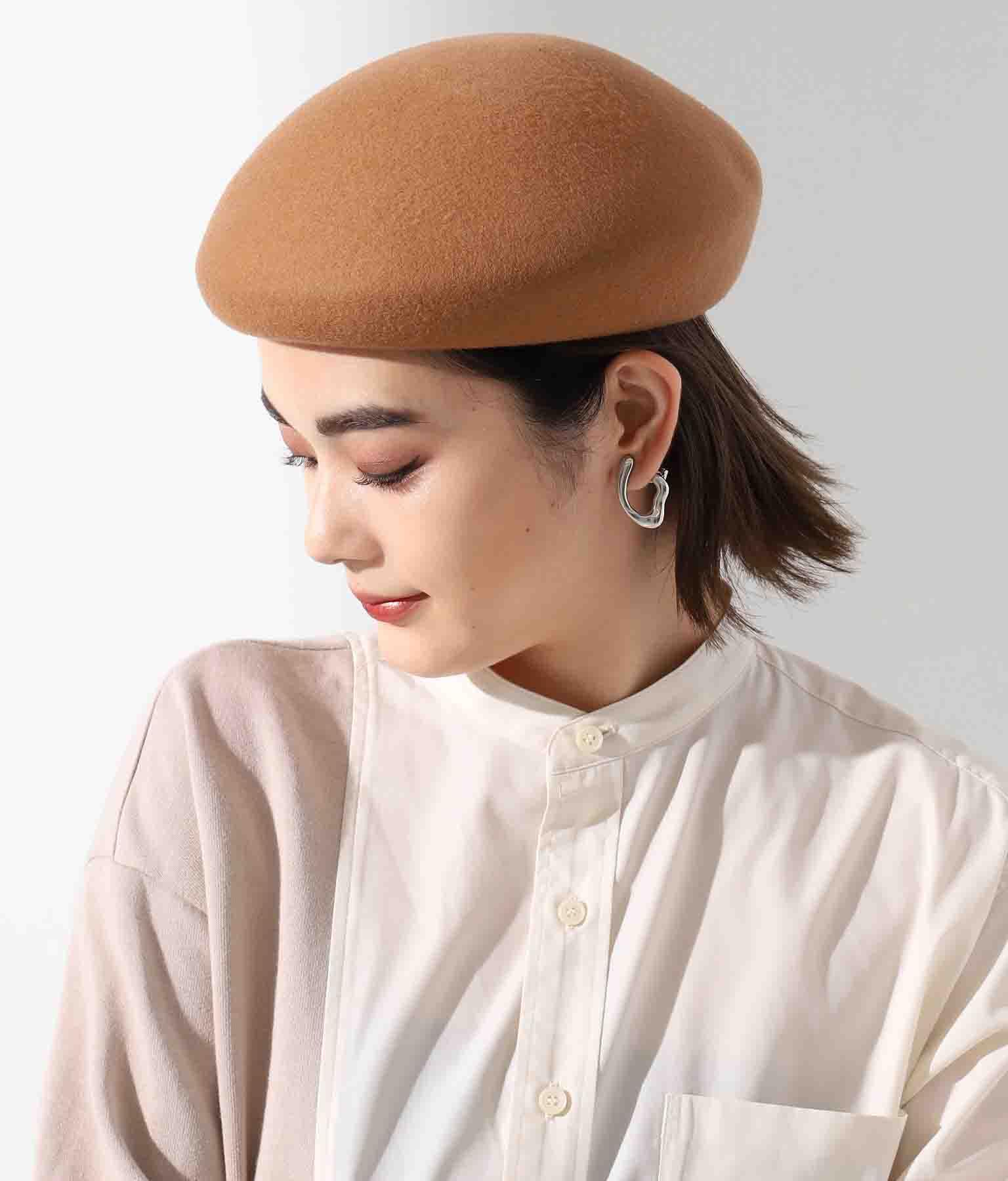 ウールアシンメトリーベレー帽