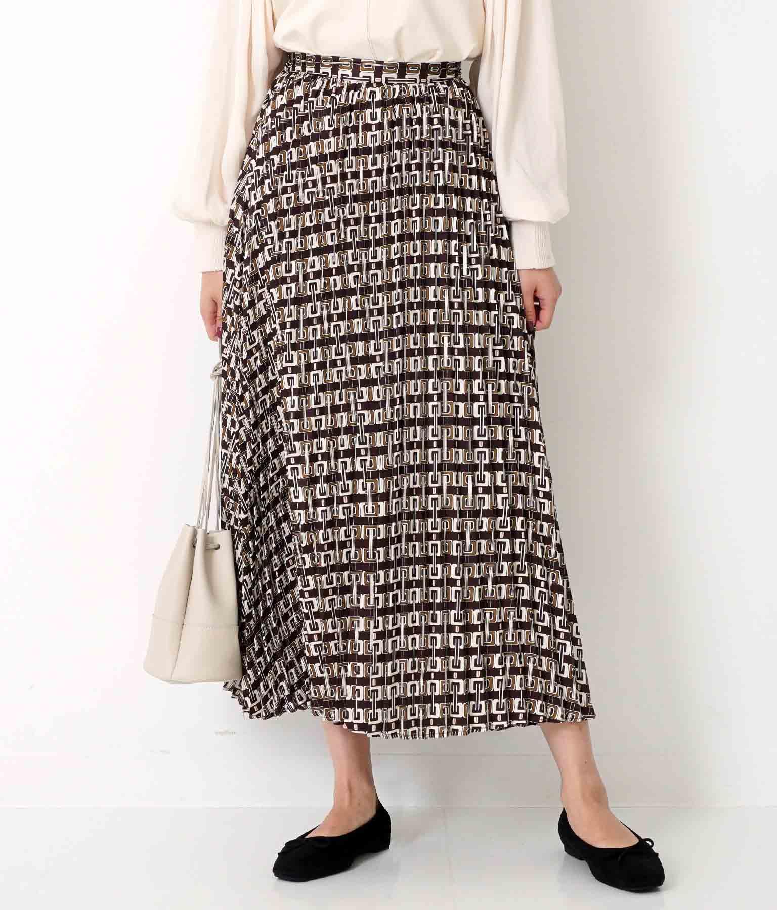 ビンテージパターンプリーツスカート