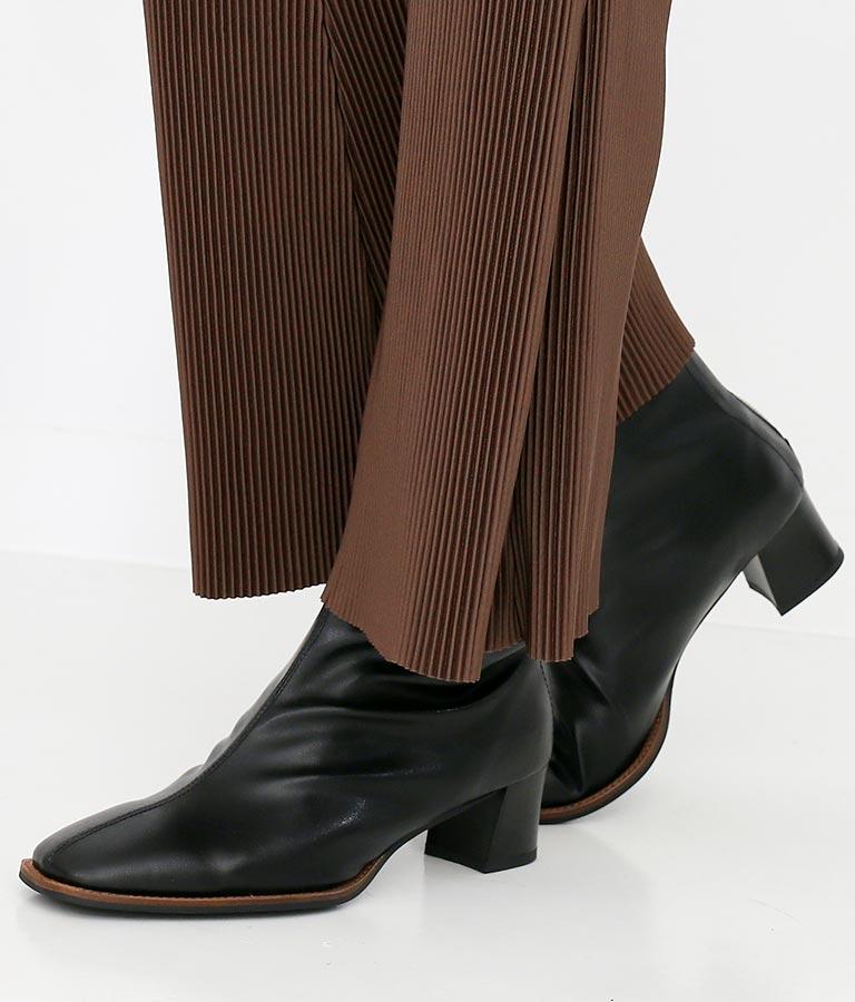 スクエアーストレッチショートブーツ(シューズ・靴/ブーツ) | Settimissimo