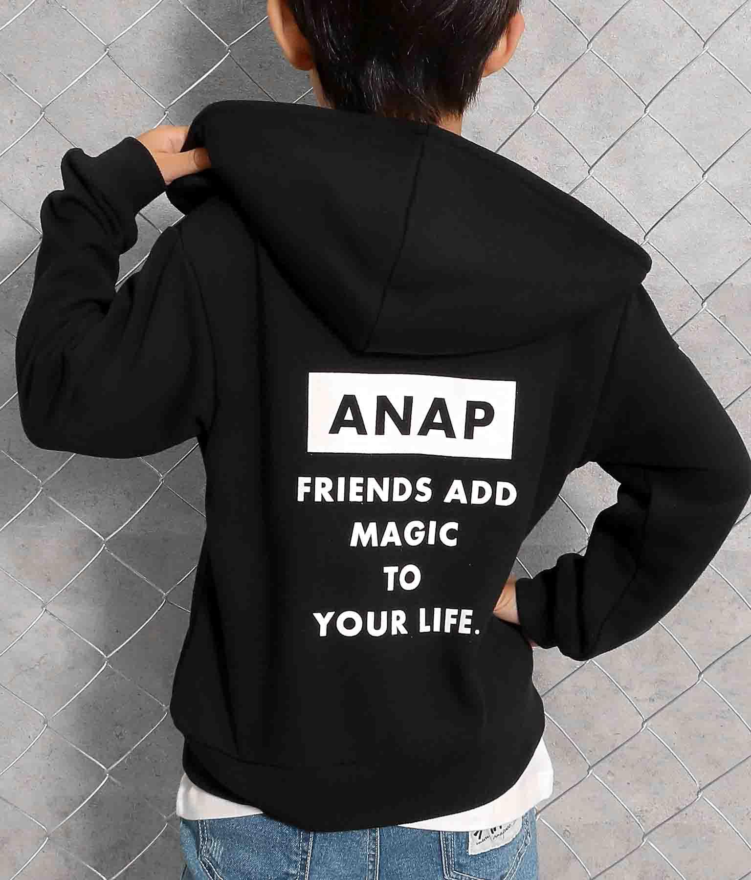 ロゴプリント裏毛パーカー(トップス/カットソー ) | ANAP KIDS