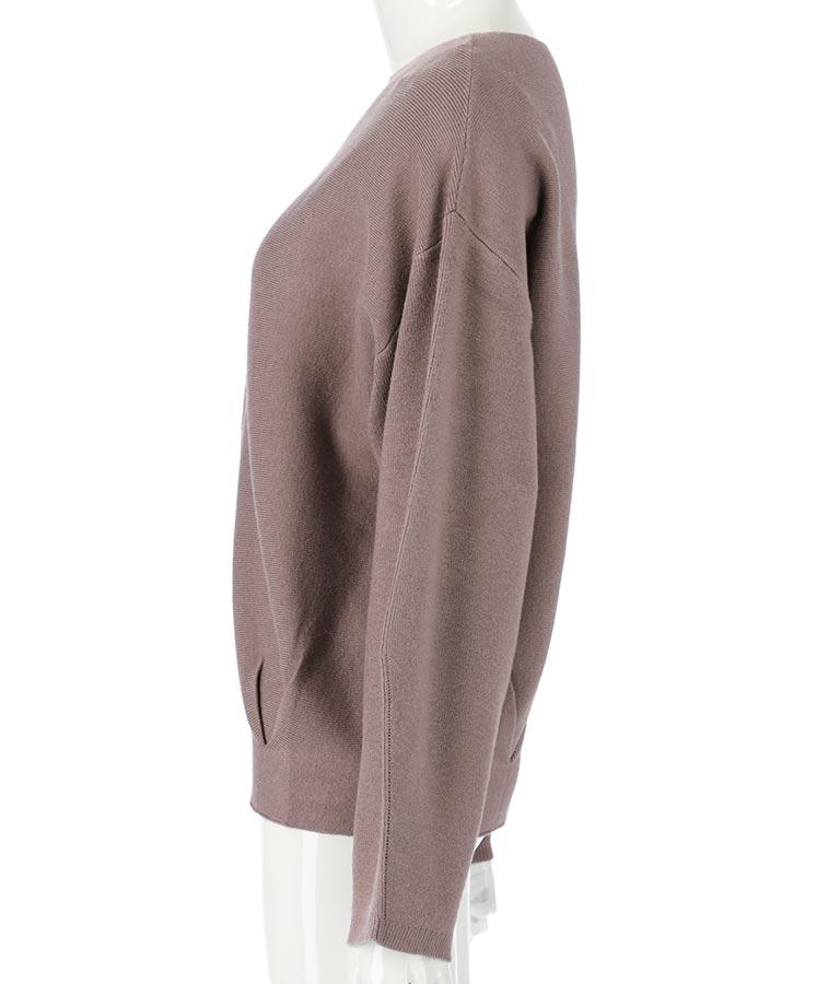 静電気防止やわもち裾タックニット(トップス/ニット/セーター) | Alluge