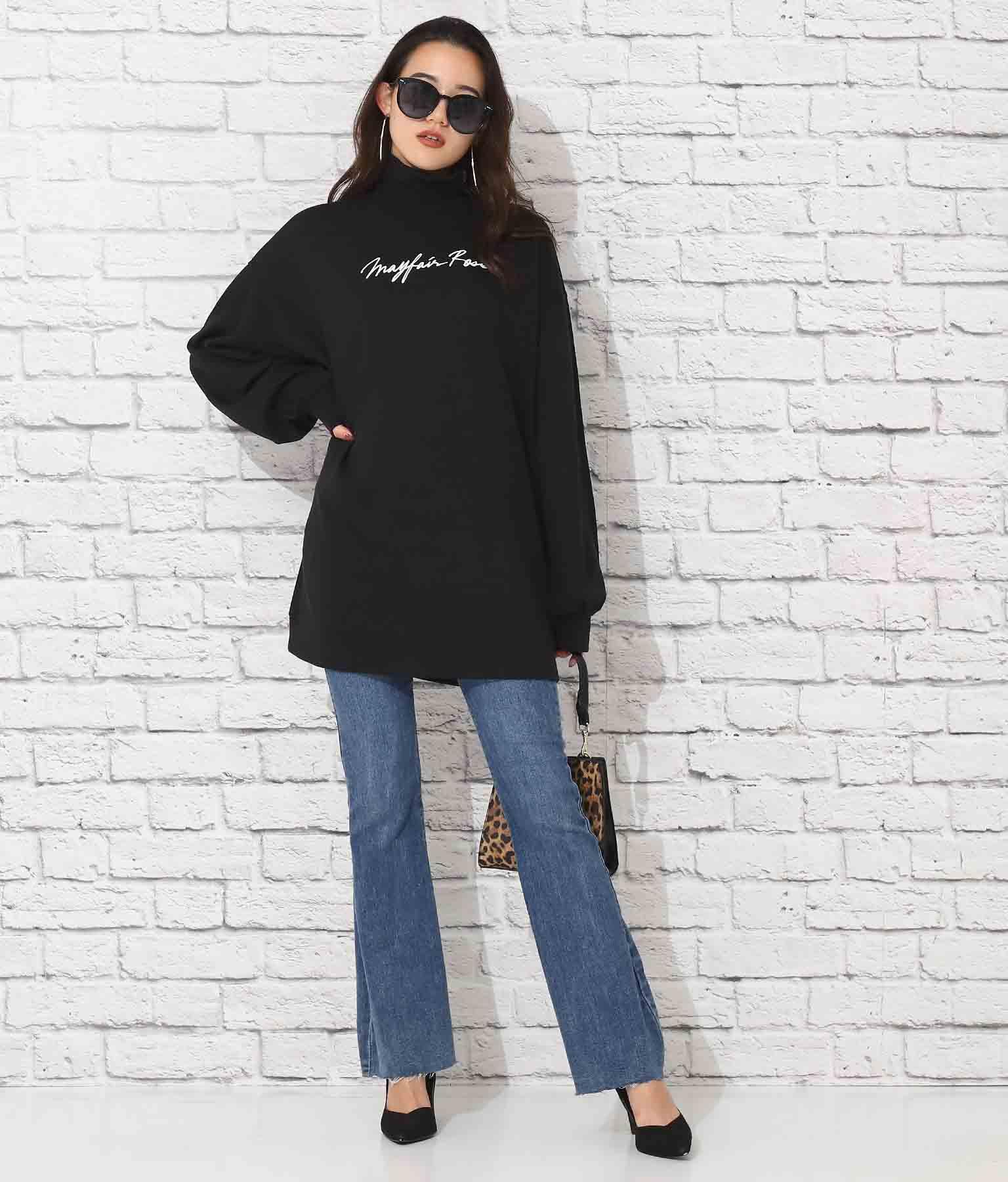 立ち襟ビックスウェットロゴチュニック | anap Latina
