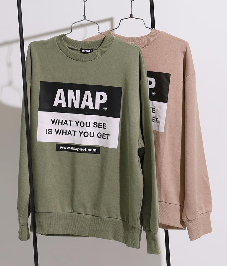ANAPロゴ裏起毛トレーナー | ANAP