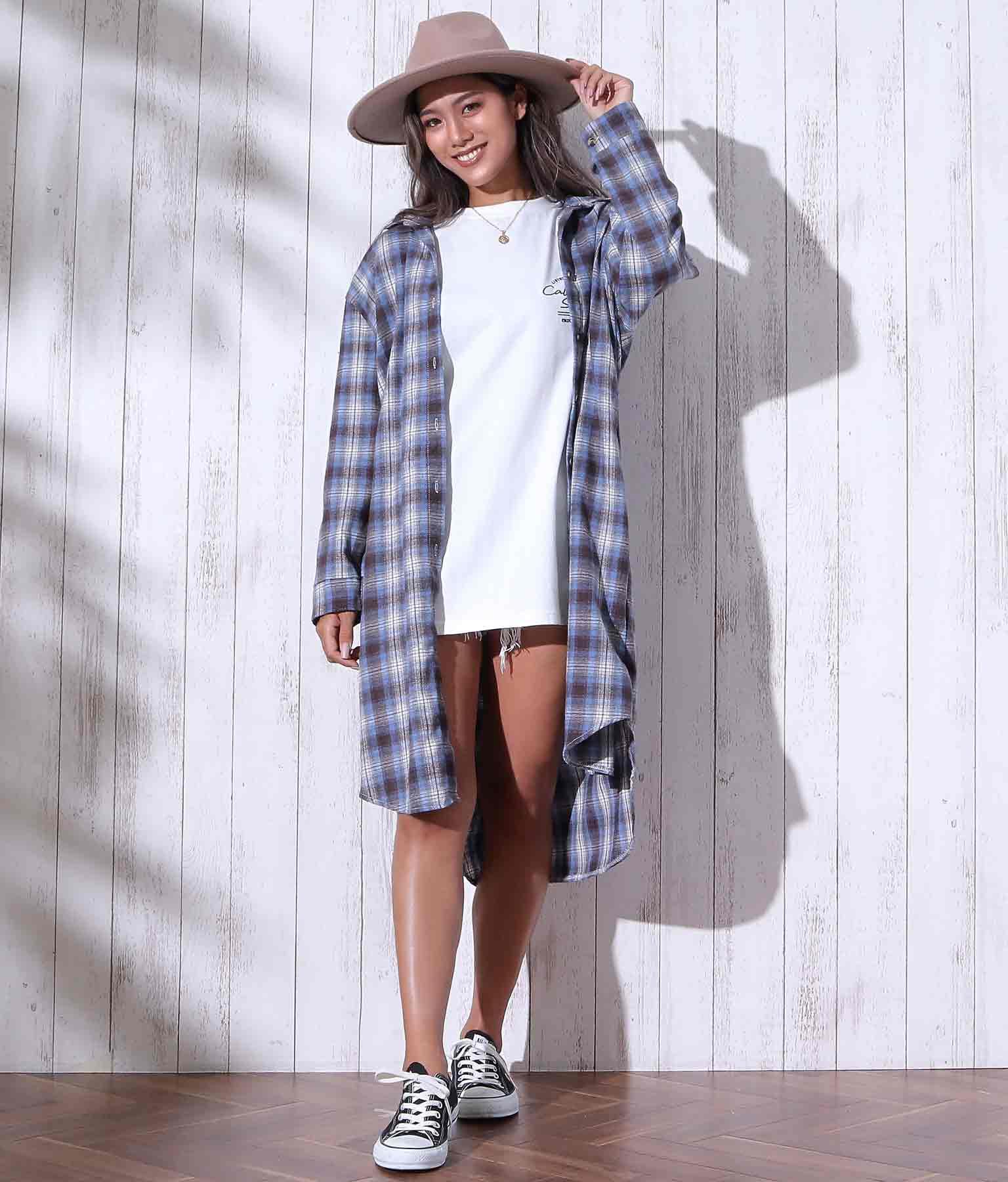 チェックロングシャツ | anap mimpi