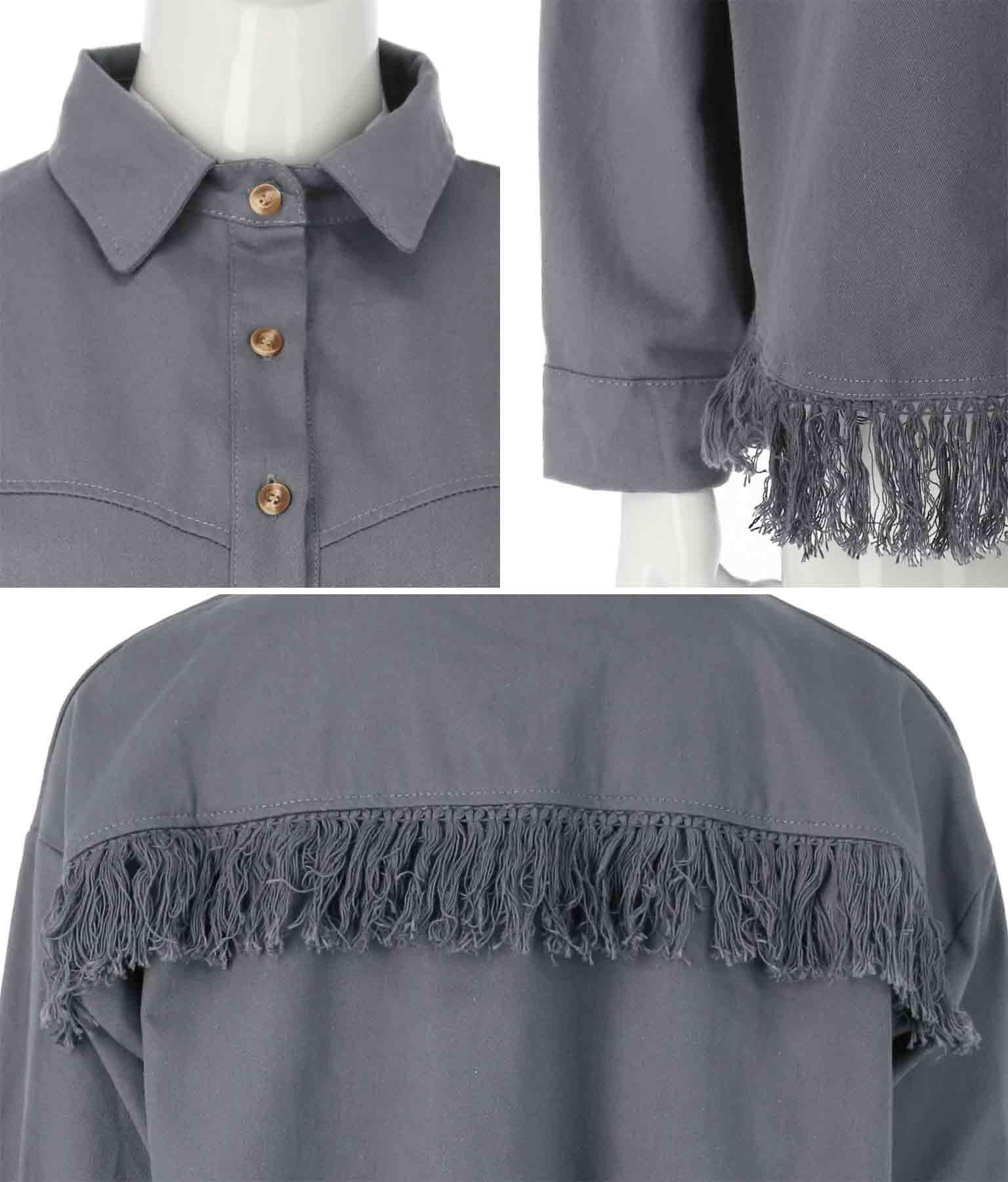 フリンジツイルシャツ(トップス/シャツ・ブラウス)   anap mimpi