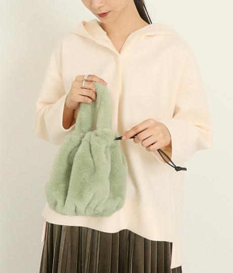 ファー巾着2WAYショルダー(バッグ・鞄・小物/ハンドバッグ・ショルダーバッグ)   AULI