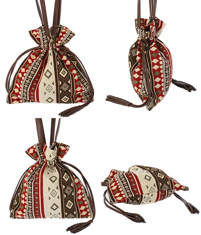 オリエンタル柄タッセルキンチャクバッグ(バッグ・鞄・小物/トートバッグ) | Settimissimo