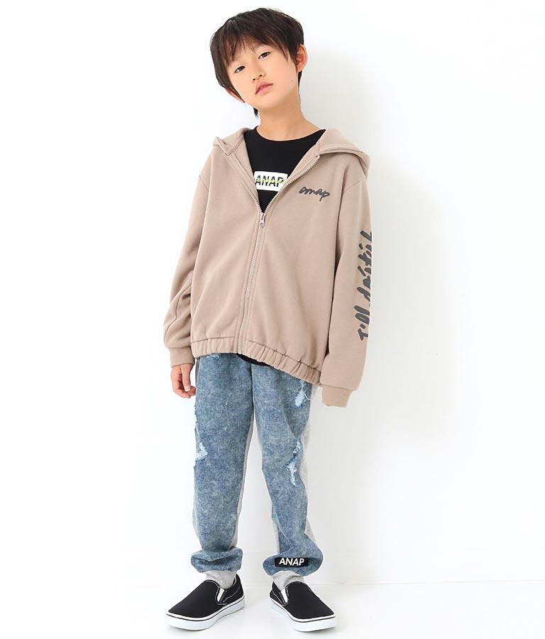 デニム×裏毛コンビジョガーパンツ(ボトムス・パンツ /ロングパンツ) | ANAP KIDS