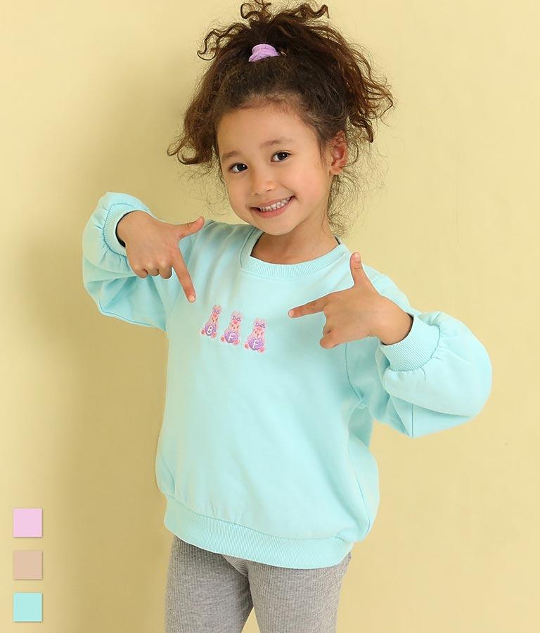 ポンポン刺繍裏毛トレーナー(トップス/スウェット・トレーナー) | ANAP KIDS