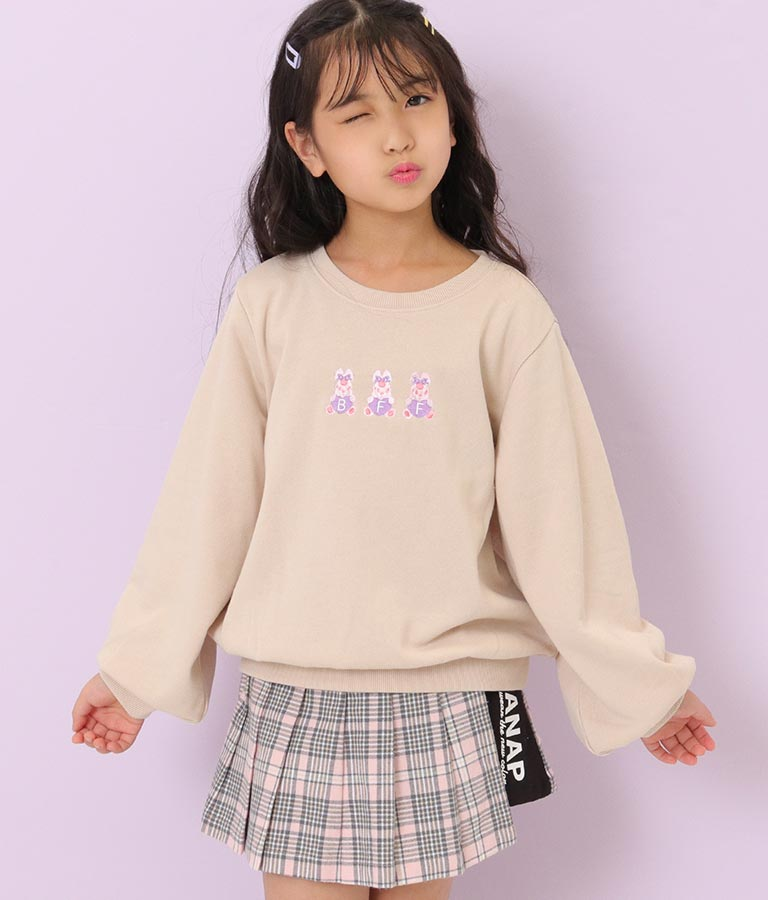 ポンポン刺繍裏毛トレーナー | ANAP KIDS