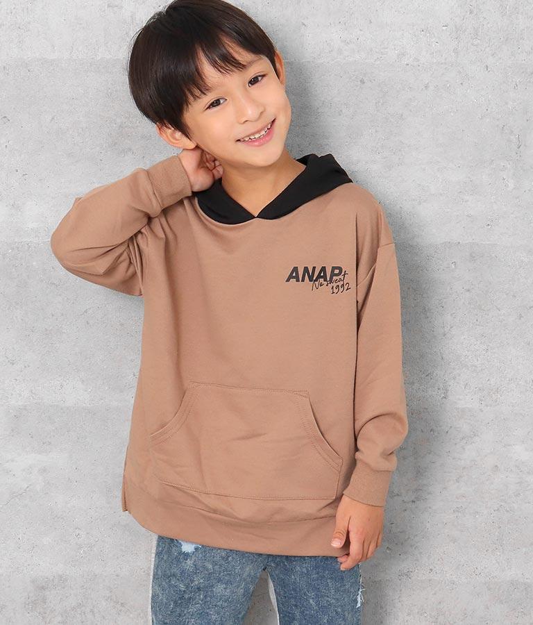 配色フーディートップス(トップス/カットソー ) | ANAP KIDS
