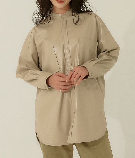 ヴィーガンレザーシャツジャケット(アウター(コート・ジャケット) /ジャケット・ブルゾン) | AULI