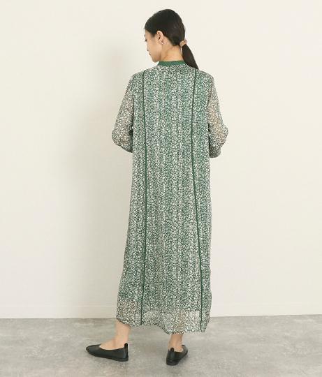 中花柄ワンピース(ワンピース・ドレス/ミディアムワンピ) | AULI