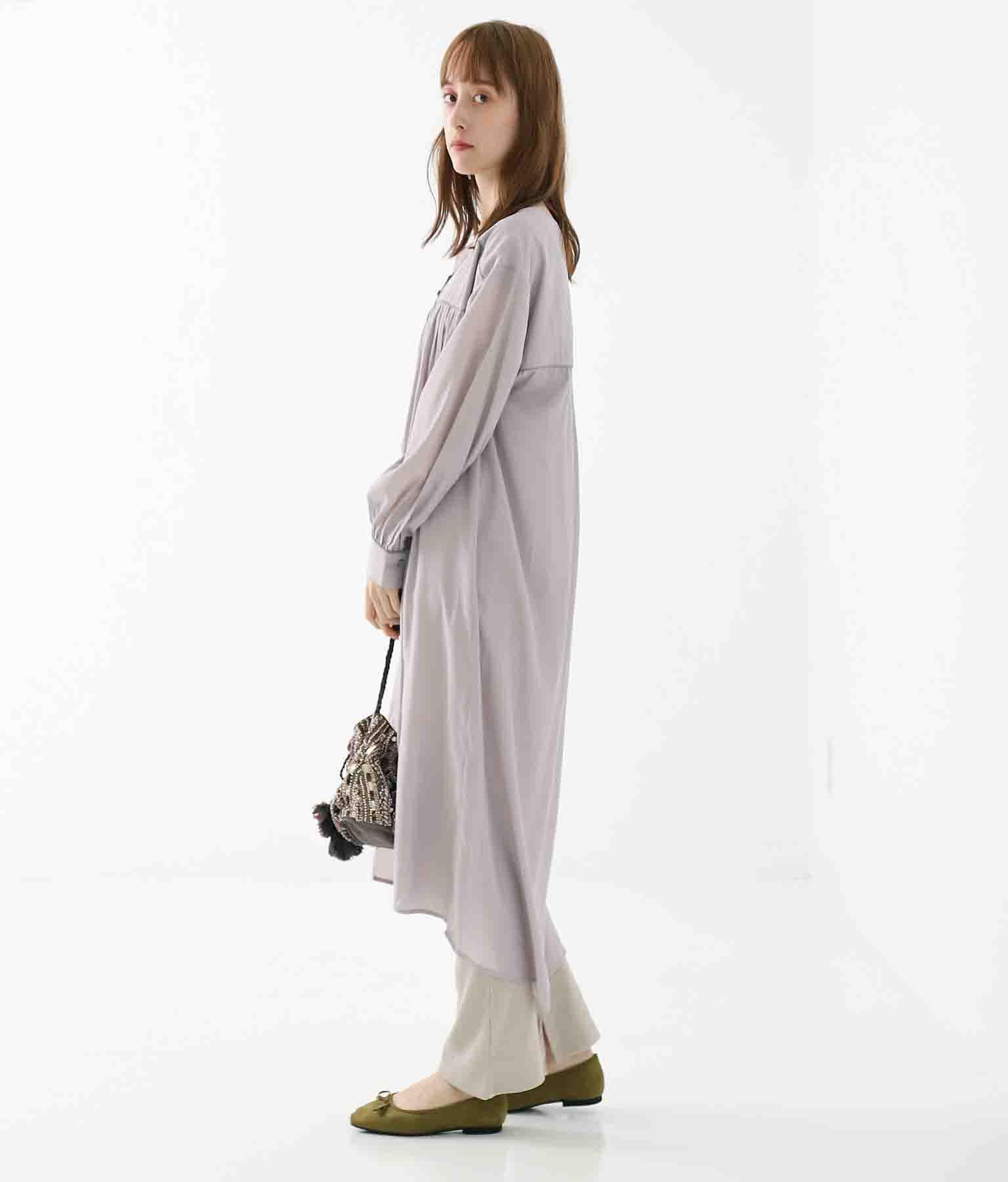 パイピングデザインワンピース(ワンピース・ドレス/ロングワンピ) | Alluge