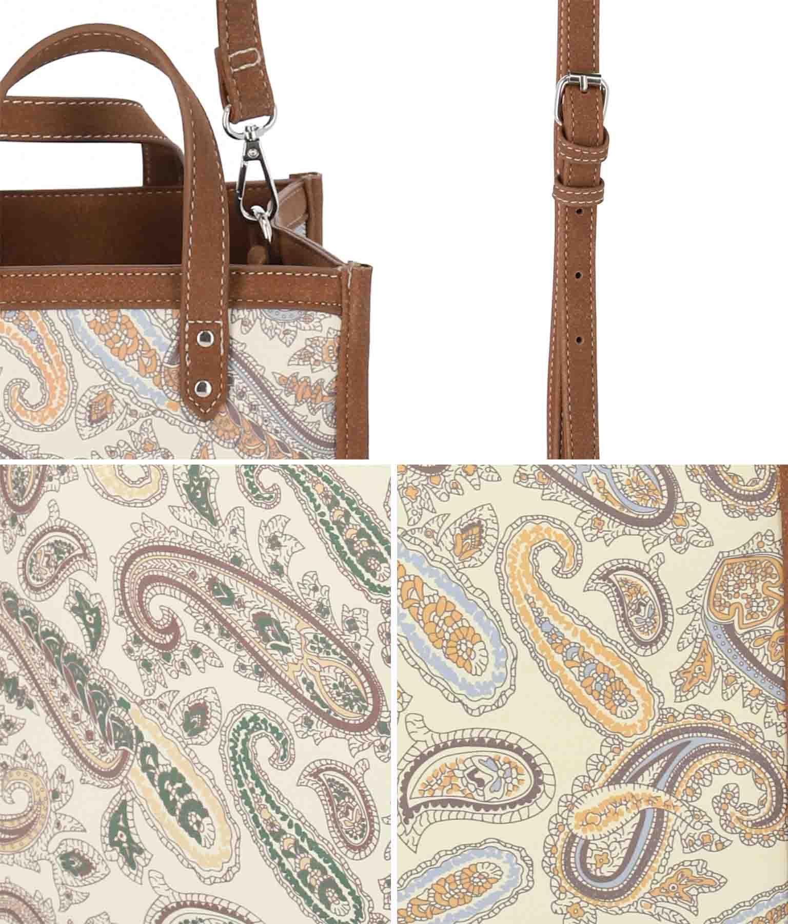 2WAYペイズリミニトートバッグ(バッグ・鞄・小物/ショルダーバッグ・トートバッグ) | anap mimpi