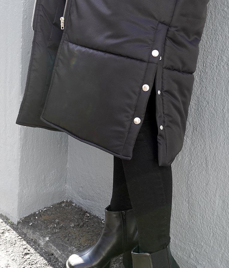 中綿フーディーロングコート(アウター(コート・ジャケット) /コート (トレンチコート・ロングコート) ) | ANAP