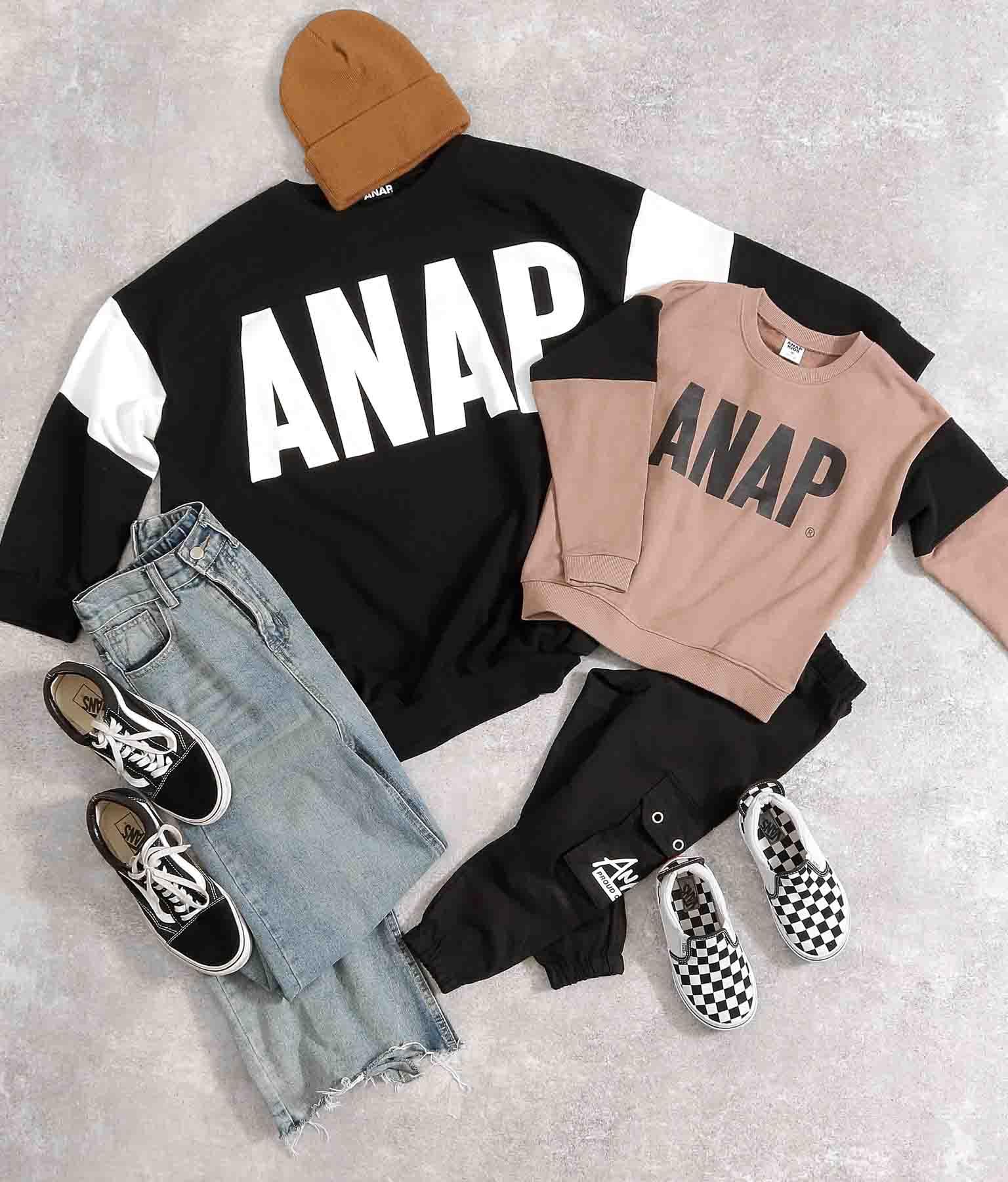 切替ビッグロゴトレーナー(トップス/スウェット・トレーナー) | ANAP KIDS