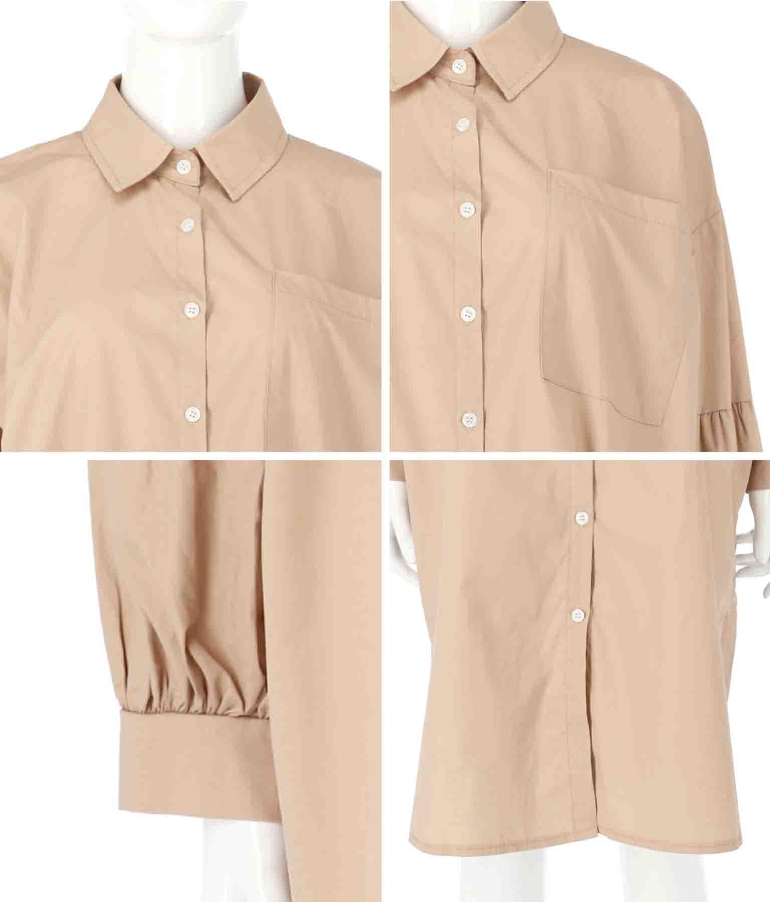 ボリュームスリーブロングシャツ | Alluge