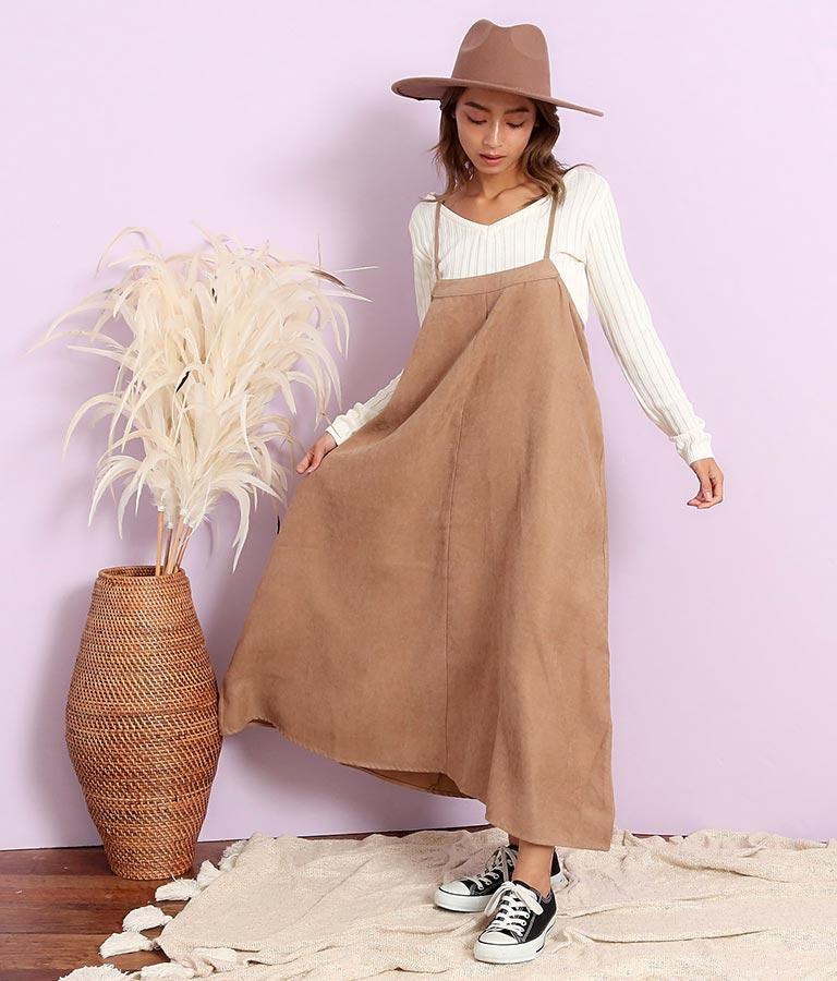 ライスコーデュロイサロペットスカート(ワンピース・ドレス/サロペット/オールインワン) | anap mimpi