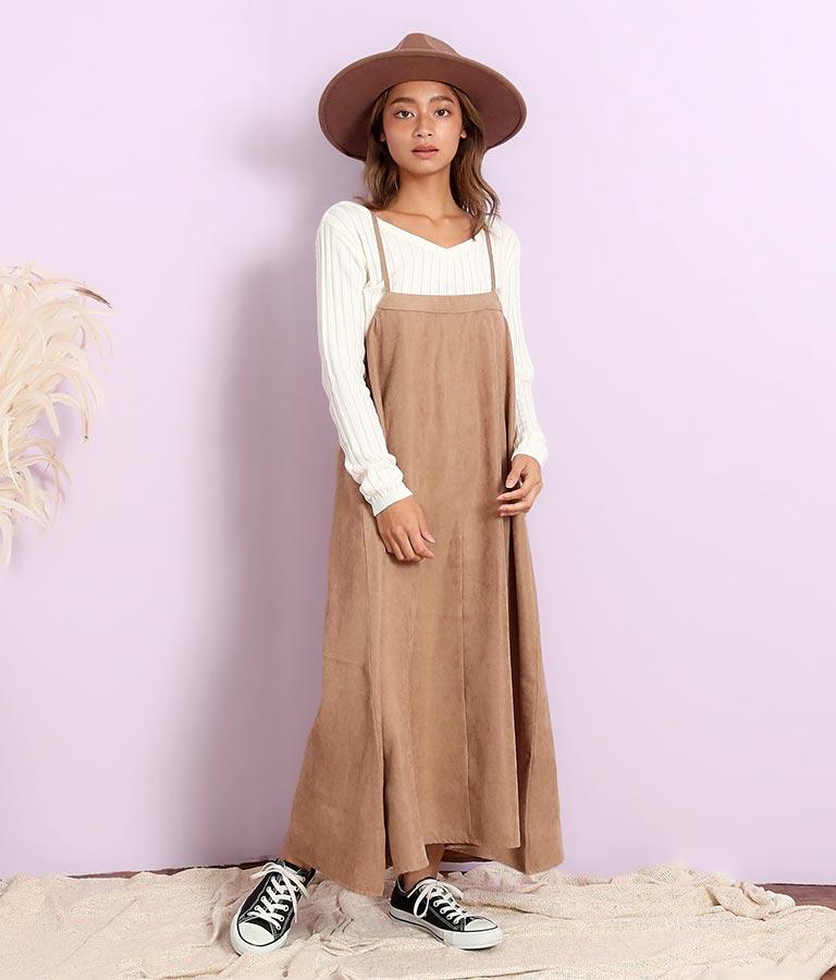 ライスコーデュロイサロペットスカート