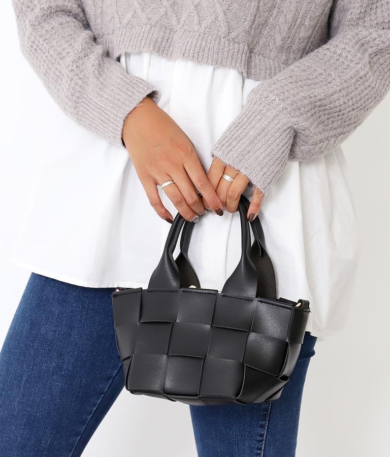 ワイドメッシュミニバッグ(バッグ・鞄・小物/ハンドバッグ・ショルダーバッグ) | Alluge