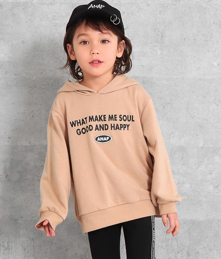 シリコンワッペンフード付き裏毛トレーナー | ANAP KIDS