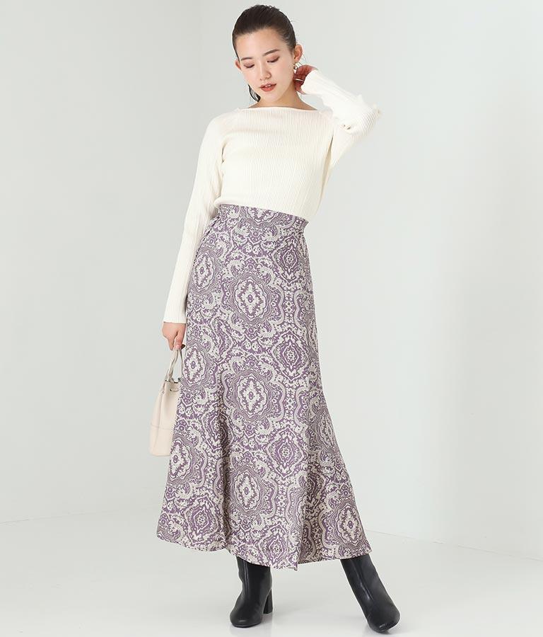 ツイルサテンペイズリースカート(ボトムス・パンツ /スカート) | Alluge