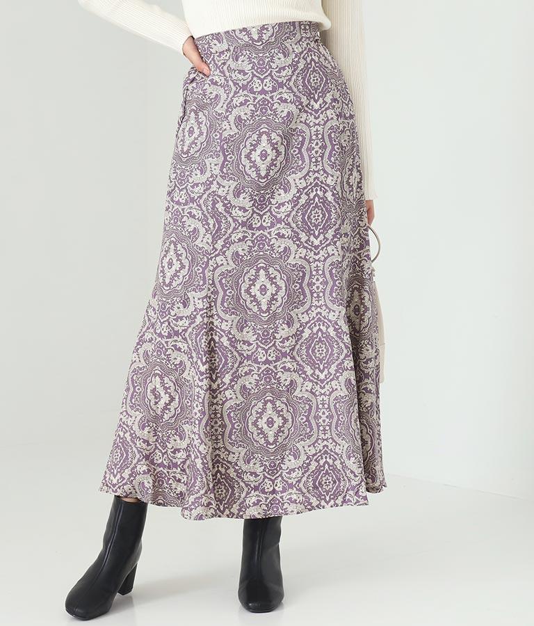 ツイルサテンペイズリースカート