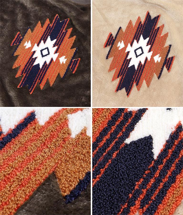 オルテガ刺繍ボアトップス | anap mimpi