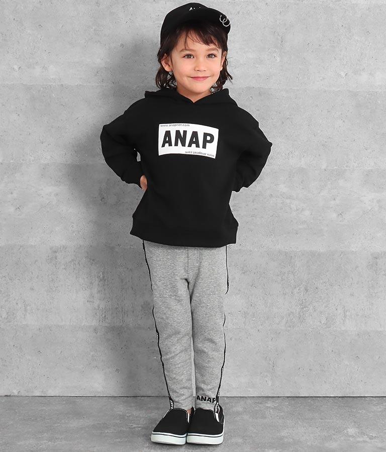 裏シャギーロゴラインパンツ(ボトムス・パンツ /ロングパンツ) | ANAP KIDS