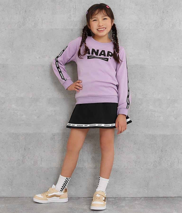 裏シャギーラインロゴトレーナー(トップス/スウェット・トレーナー)   ANAP KIDS