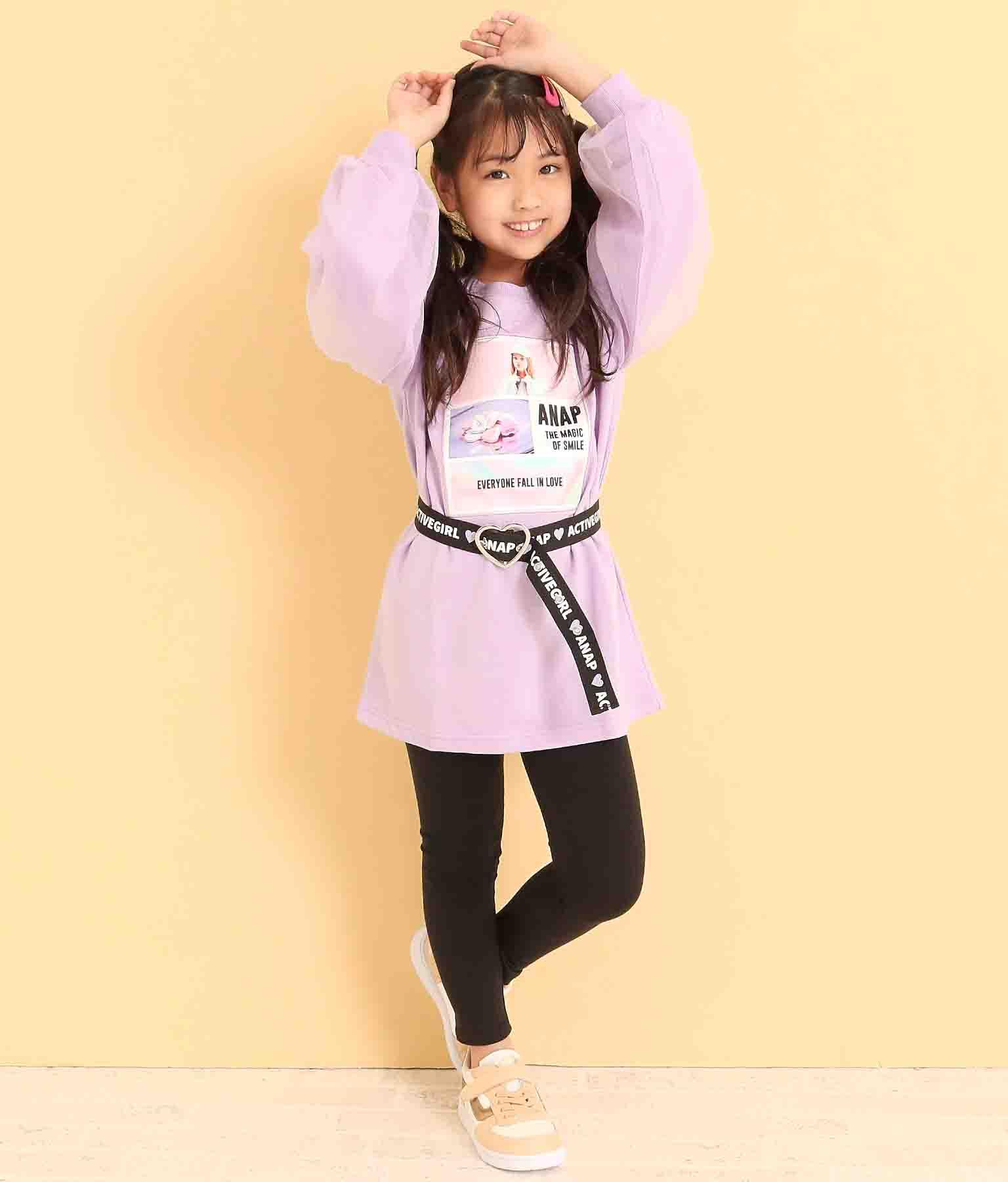 ハートバックルロゴベルト(ファッション雑貨/ベルト) | ANAP KIDS