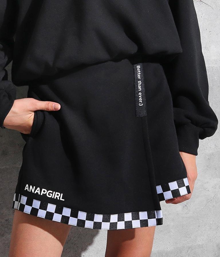 チェッカーライン入りスカパン(ボトムス・パンツ /ショートパンツ・スカート) | ANAP GiRL