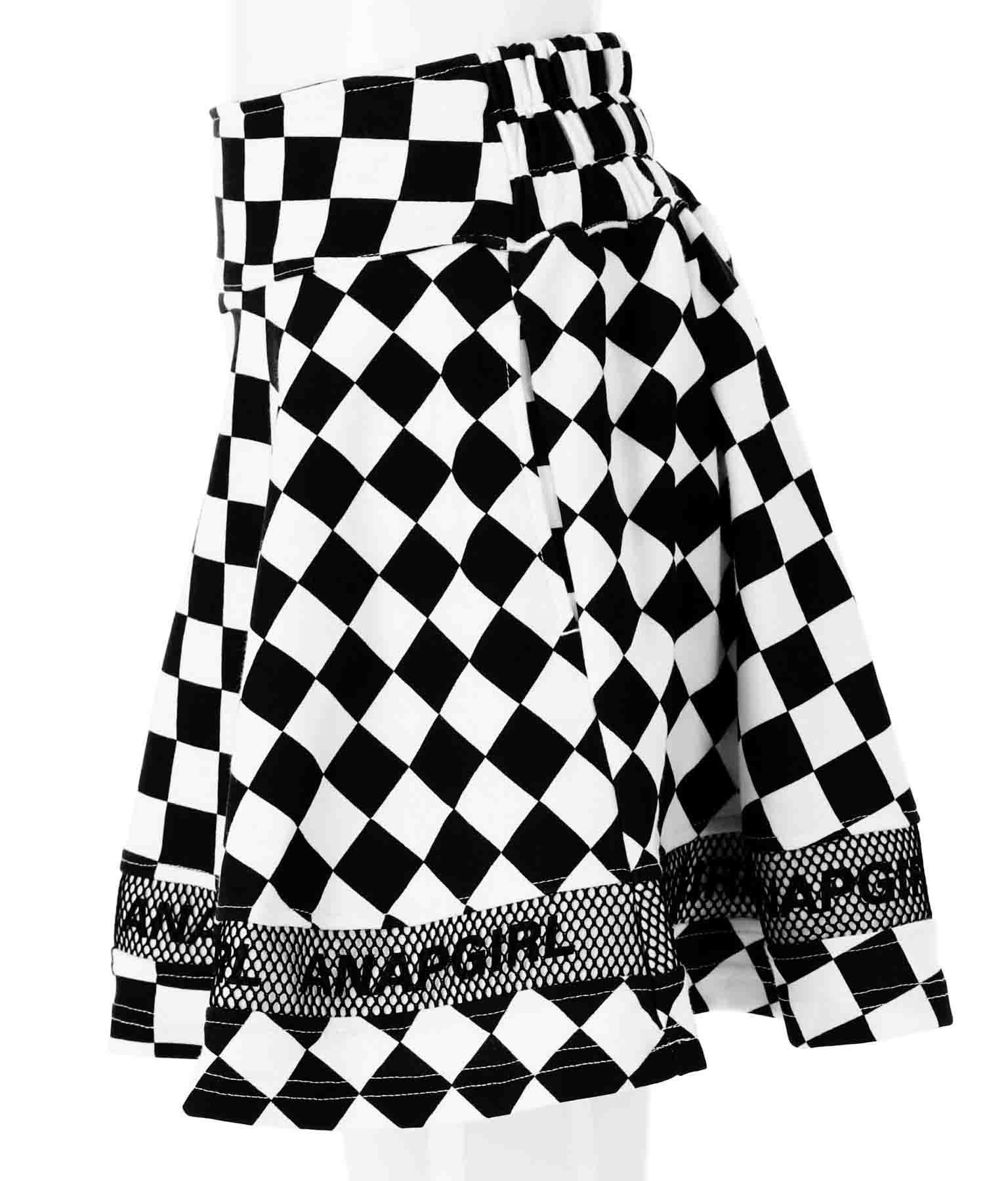 メッシュ切替フレアインパンツスカート(ボトムス・パンツ /ショートパンツ・スカート)   ANAP GiRL