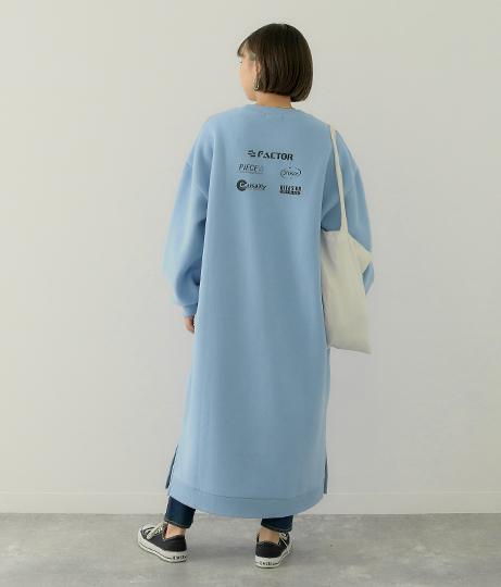 バックプリントロングスウェットワンピース(ワンピース・ドレス/ロングワンピ) | Factor=