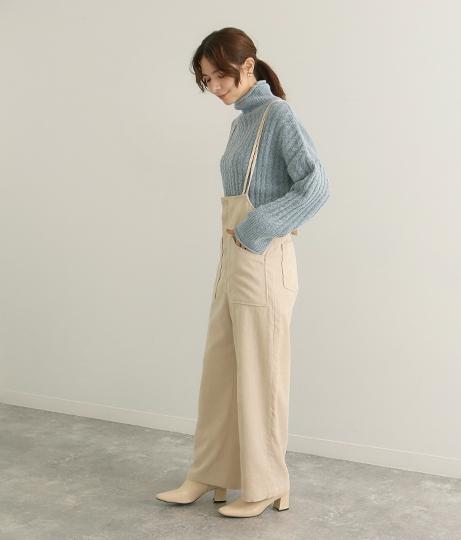 シャツコールサロペット(ワンピース・ドレス/サロペット/オールインワン) | Factor=