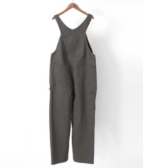 オーバーオールデニムワイドコットン(ワンピース・ドレス/サロペット/オールインワン)   Factor=