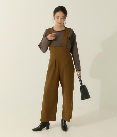 タックワイドオールインワン(ワンピース・ドレス/サロペット/オールインワン) | AULI