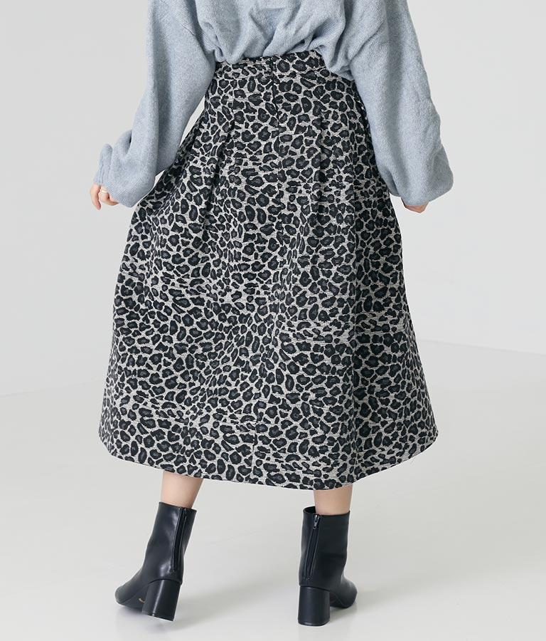 ジャガードレオパードフレアスカート(ボトムス・パンツ /スカート) | Alluge