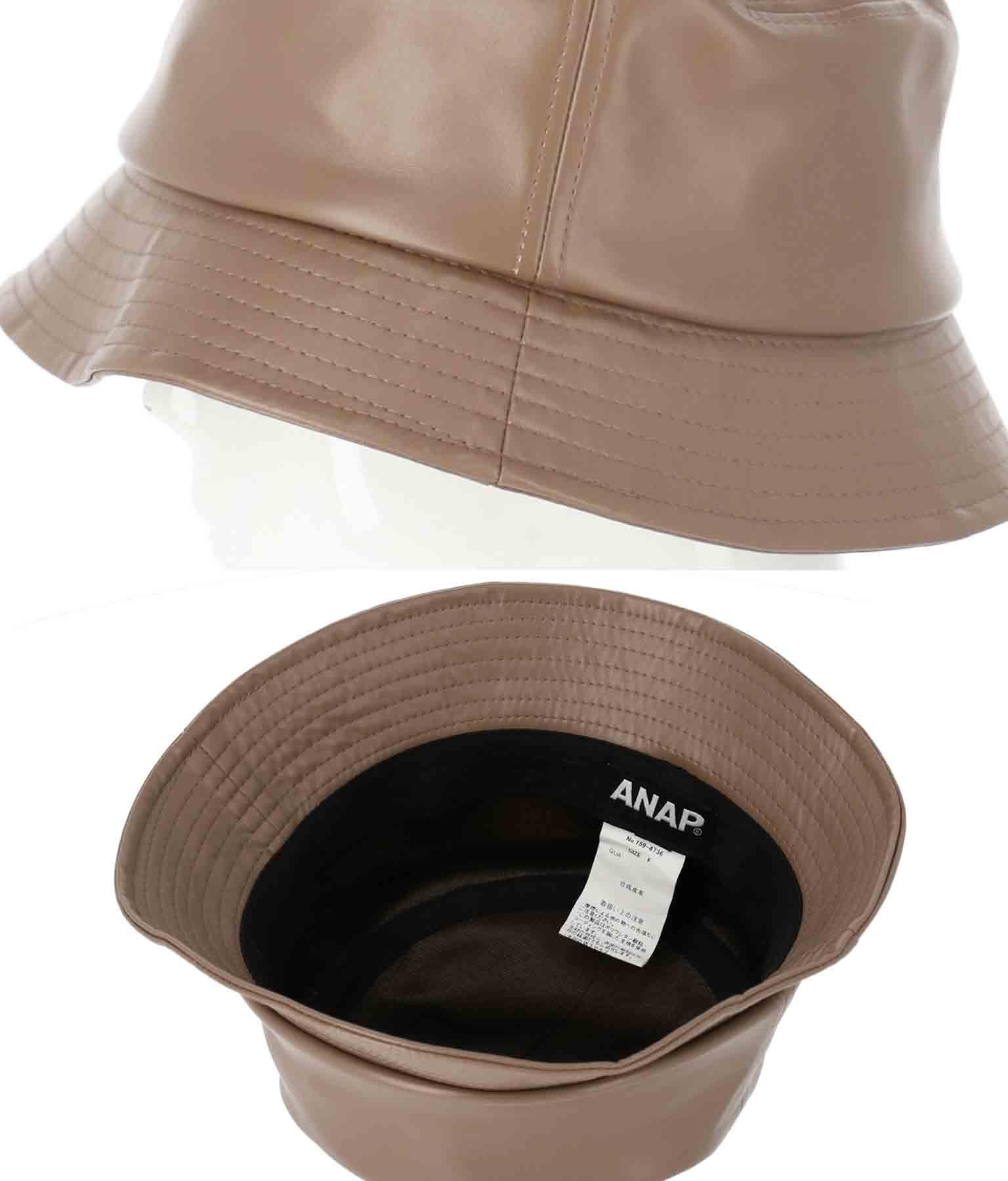 フェイクレザーバケットハット(ファッション雑貨/ハット・キャップ・ニット帽 ・キャスケット・ベレー帽)   ANAP