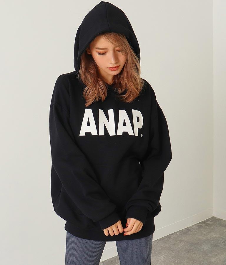 ANAPロゴフーディー裏毛チュニック | ANAP