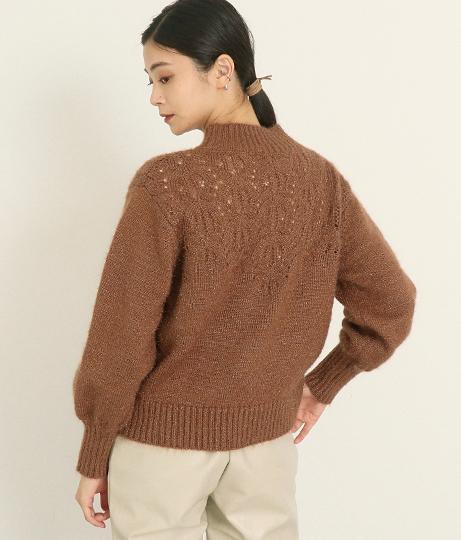 ボリューム袖透かしプルオーバー(トップス/ニット/セーター) | AULI