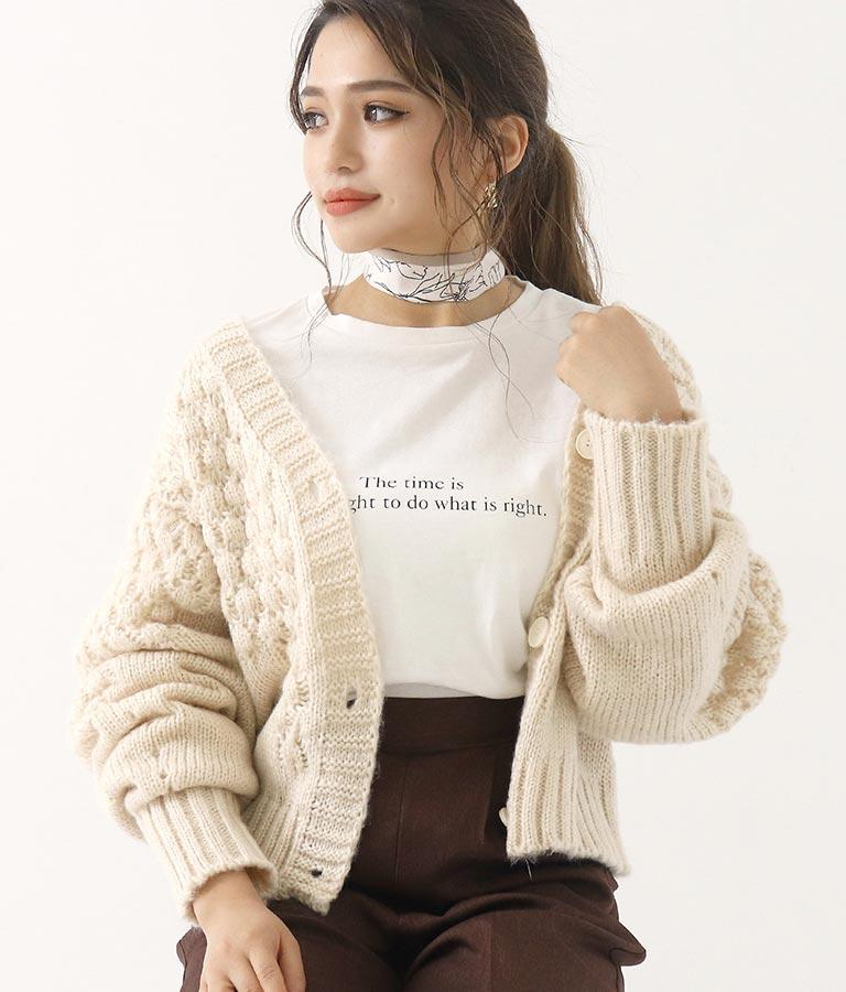 手書き風花柄スカーフ(ファッション雑貨/マフラー・ストール ・スヌード・スカーフ ) | CHILLE