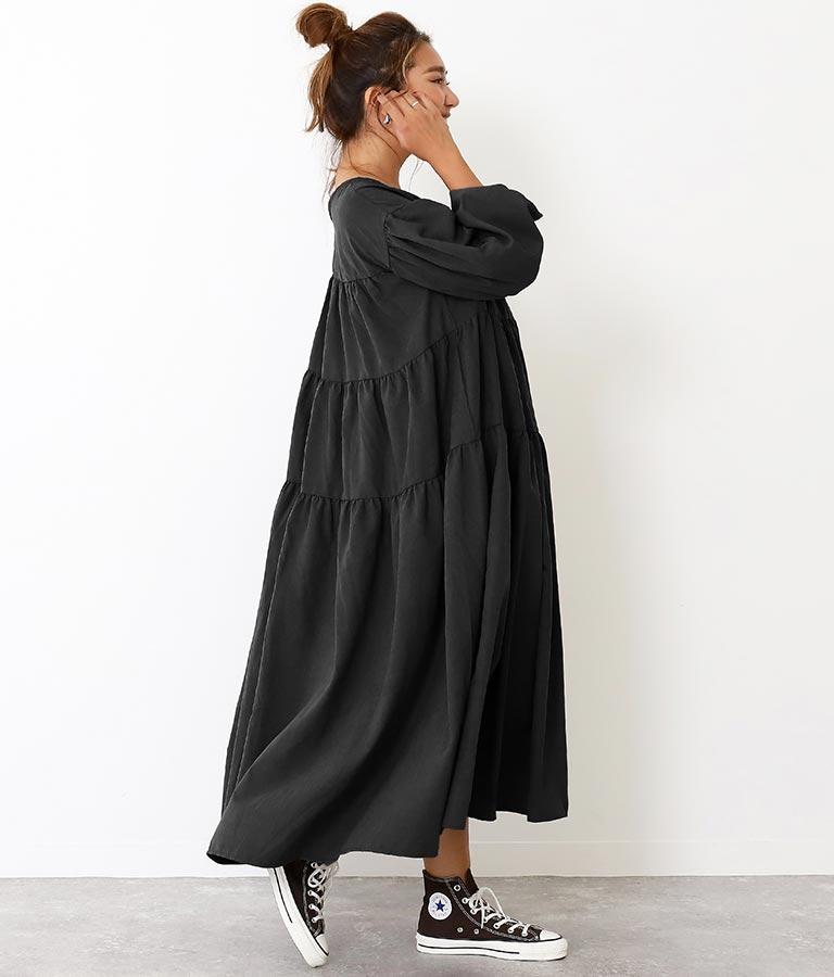 ピーチティアード2WAYワンピース(ワンピース・ドレス/ロングワンピ) | Alluge