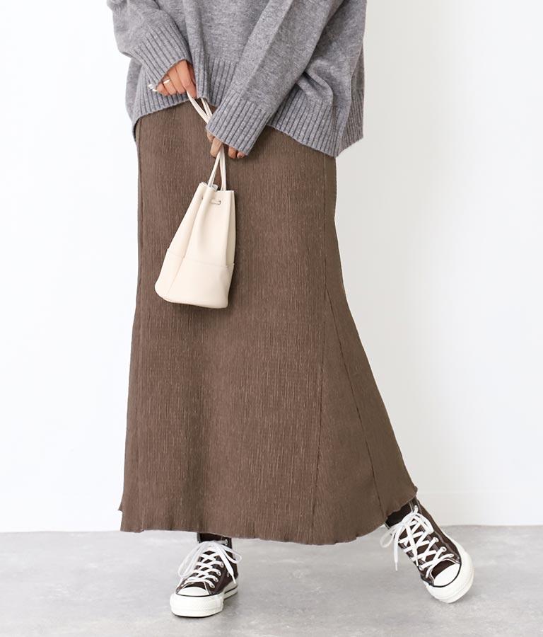 Alluge リップルロングスカート
