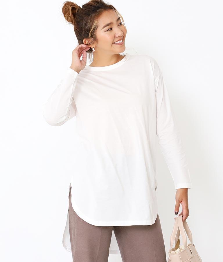シルケットラウンドヘムロングTシャツ | Alluge