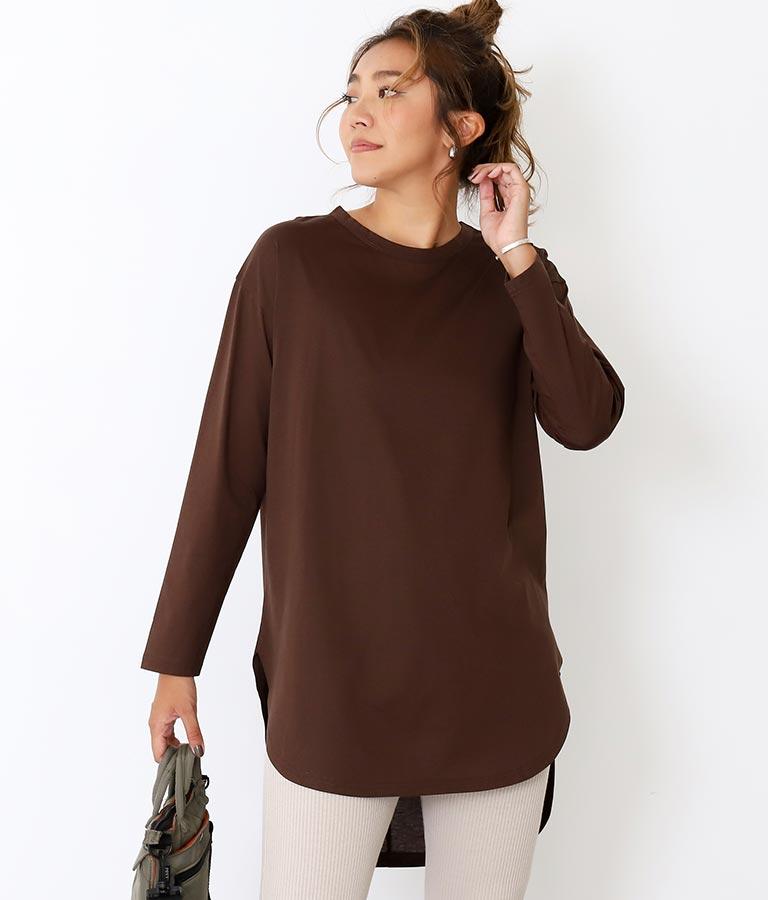 シルケットラウンドヘムロングTシャツ