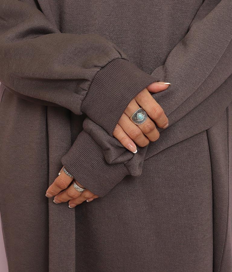 裏起毛キーネックロングワンピース(ワンピース・ドレス/ロングワンピ・マキシ丈ワンピース) | anap mimpi