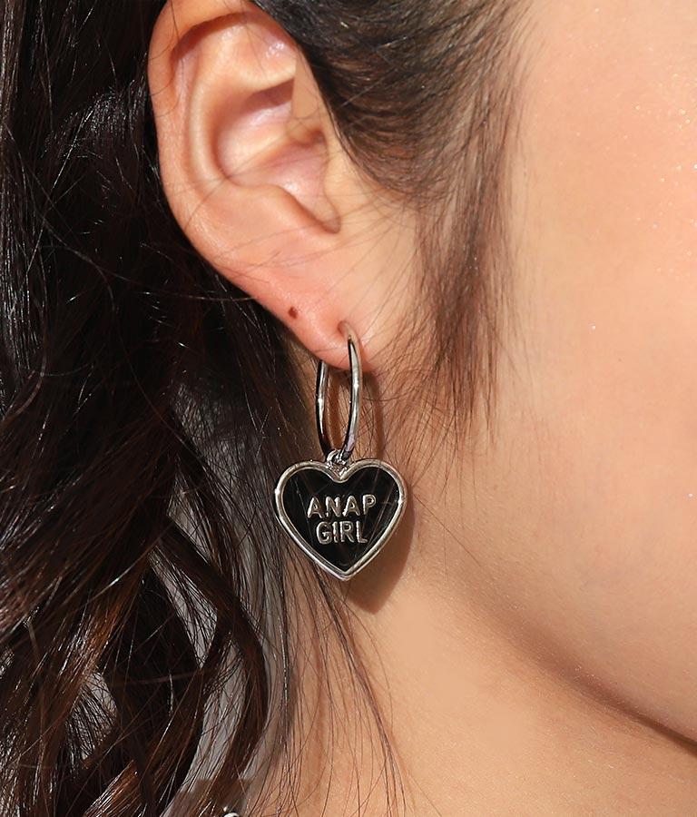 ハートフープイヤリング(アクセサリー/ピアス・イアリング) | ANAP GiRL